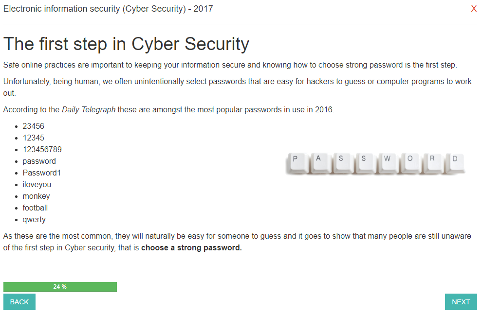 Cyber Security Staff Awareness Training Course